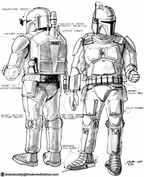 Joe Johnston Boba Fett concept drawings