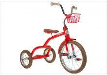 Grand tricycle vintage métal rouge