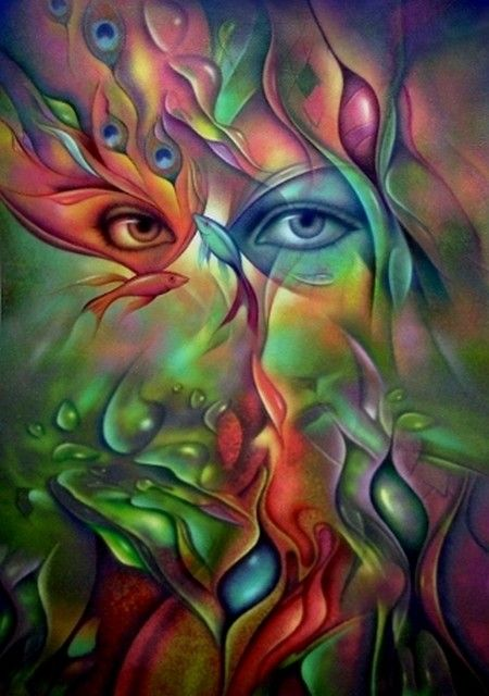 Colorful Abstract Face #art #abstract #face: Heart Polyvore, The Artists, Leon Alegria, Colors, Beautiful, Digital Art, Photos Art, Eye Art, Face Art