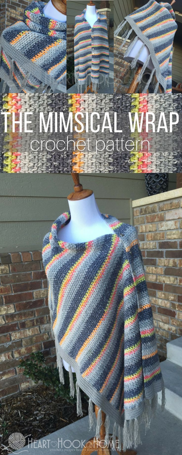 I'm a sucker for ponchos. That's a lie. I'm a sucker for wraps, shawls, ponchos, chunky scarves... the Mimsical Wrap crochet pattern to the rescue!
