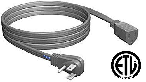 Heavy Duty 16 Gauge 3 Prong Extension Cord Wire Ideal for Air Conditioner and Major Appliance ETL Listed Safety Approved (9ft, Heavy Duty)
