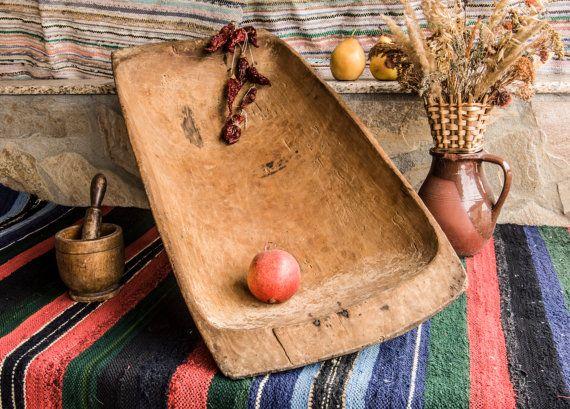 8 Best Wooden Trough Dough Bowls Images On Pinterest Wooden Dough Bowl Decorating Ideas And