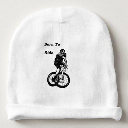 #Mountain Biker MTB BMX CYCLIST Cyclo cross Baby Beanie - #cycling #gifts