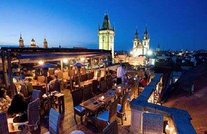 Prague: Terrace at Hotel U Prince