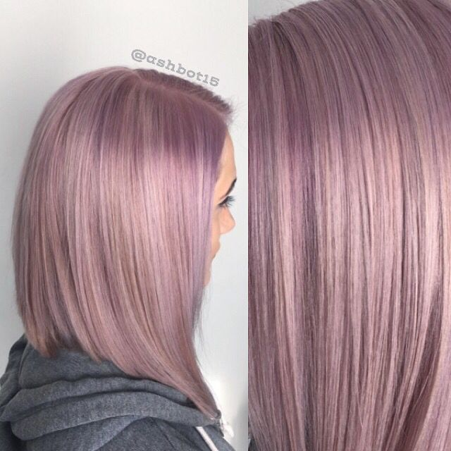 Metallic lavender hair by Ashley Rogers