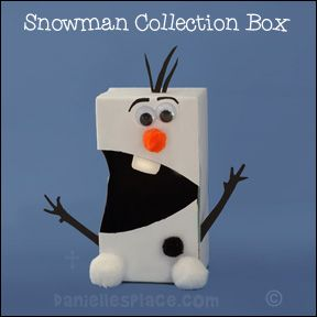 Snowman Valetine Card Holder Craft for Kids from www.daniellesplace.com