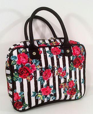 Betsey Johnson Weekender Cosmetic Tote Handbag Purse Makeup Organizer Roses New My Fashion Closet Pinterest Purses And Handbags