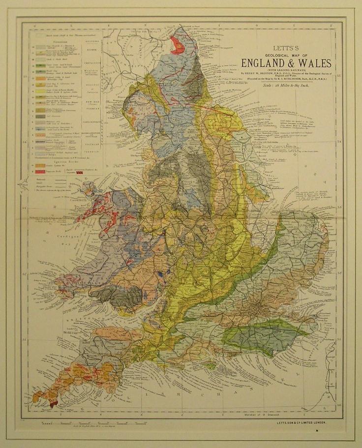 Geological Map of England u0026 Wales 12