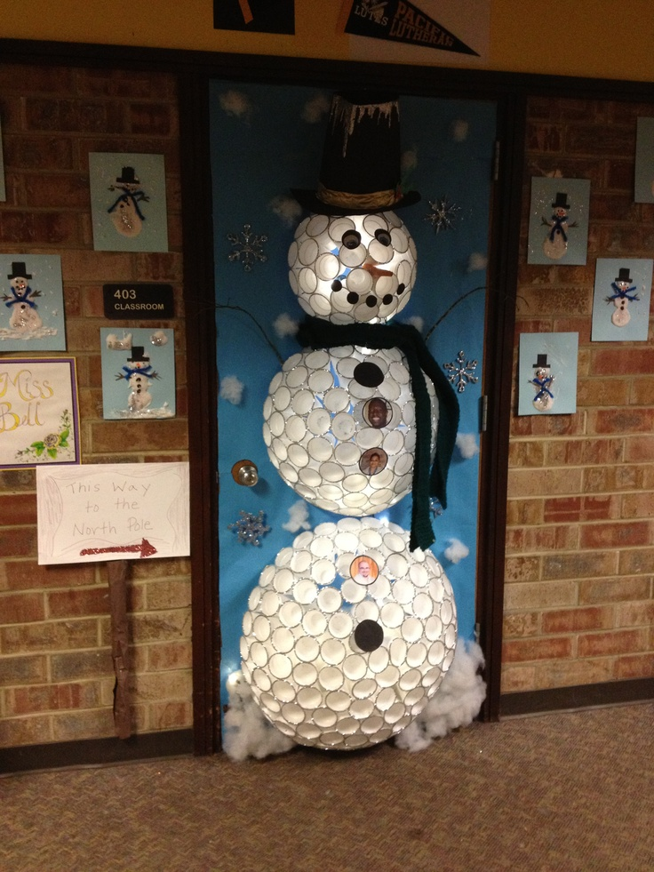 Best 25 christmas door decorating contest ideas on pinterest for 3d snowman door decoration