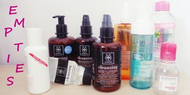 Review προϊόντων καθαρισμού για το πρόσωπο που έφτασαν στο τέλος τους. Apivita, Castalia, L'oreal, Garnier, Bioderma. Αφροί, γαλακτώματα, micellaire κ.α.