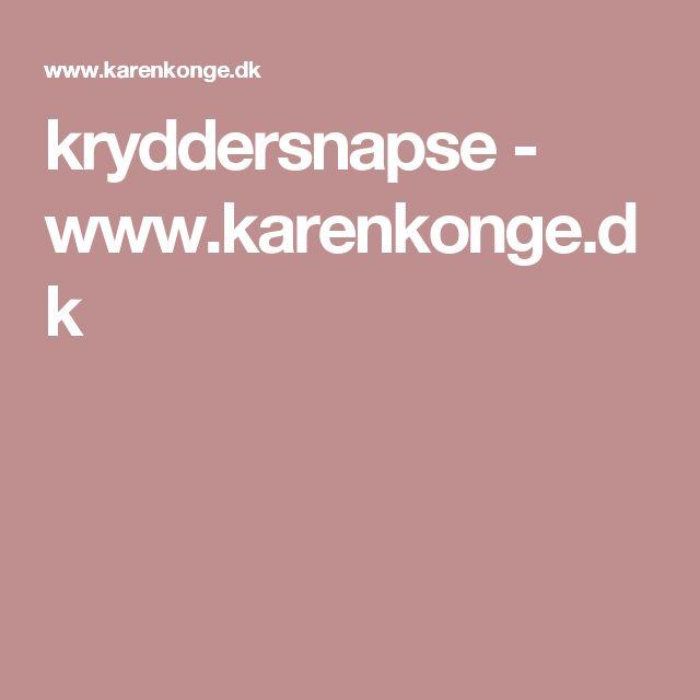 kryddersnapse - www.karenkonge.dk
