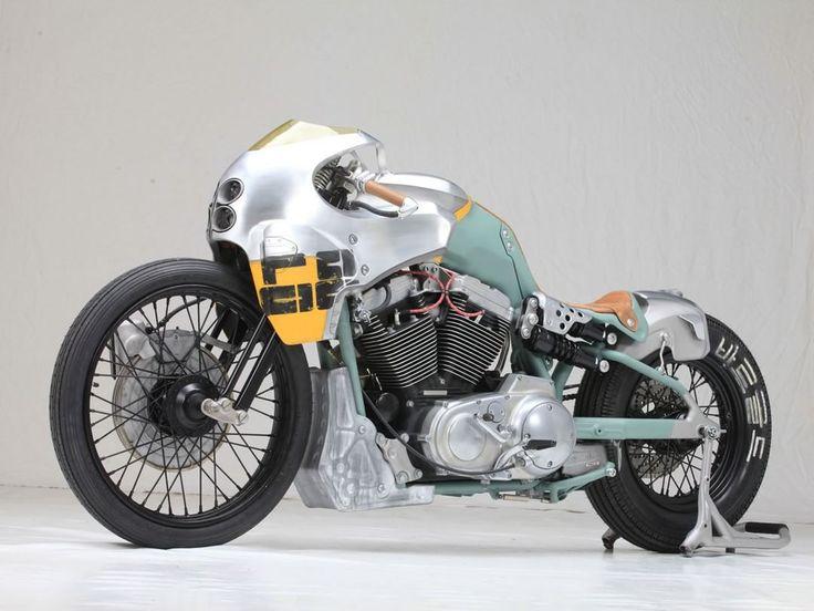"Harley-Davidson Custom Cafe Racer ""Karpatenhund"" by Blech & Druber #motorcycles #caferacer #motos | caferacerpasion.com"