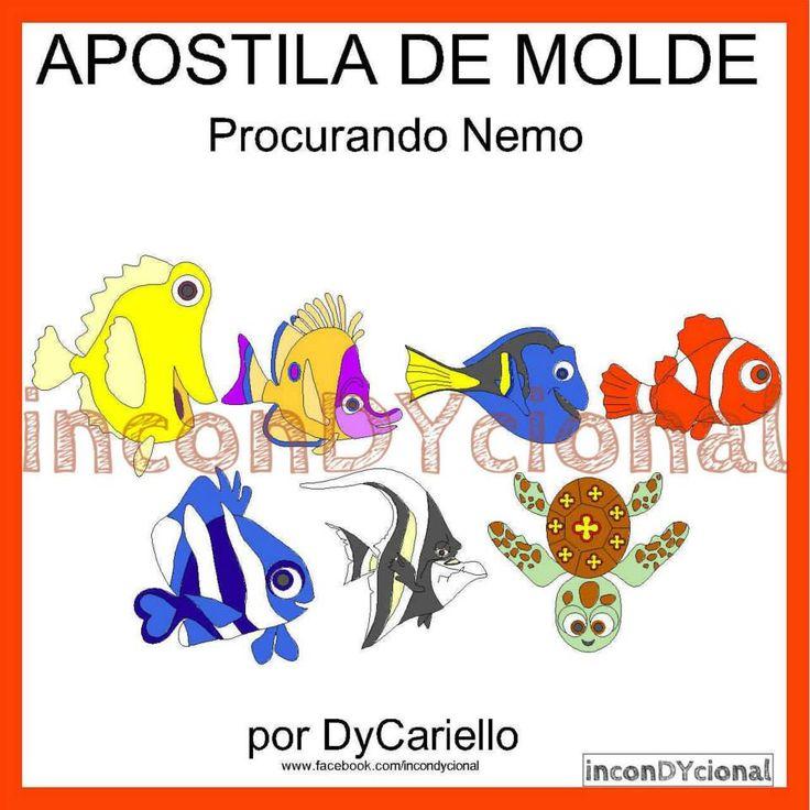 >> Apostila Digital Com Molde Da Turma Do Procurando Nemo