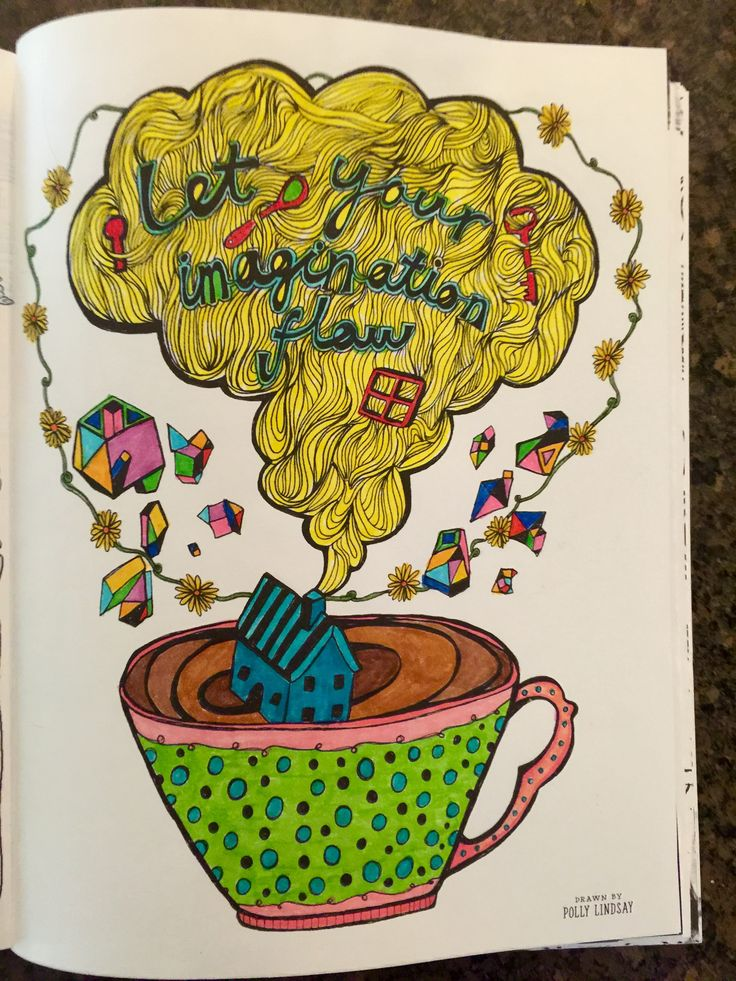 Doodlers Anonymous Epic Coloring Book Done With Crayola Markers