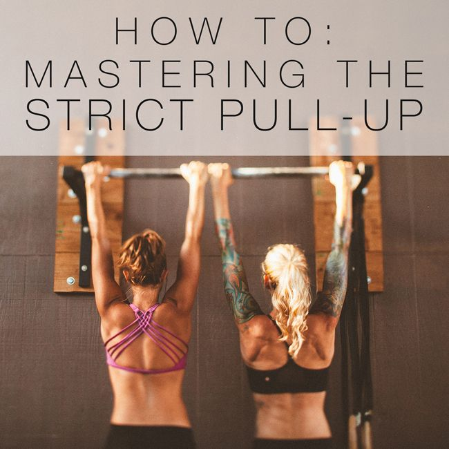 Ah, the strict pull up. A distinctive display of upper body strength,  control, and a great party trick to boot. And despite what the Marine Corps  or your Uncle Joe might think, women CAN do them!   If you're on the hunt to get your first stricty, or have one but want to be  able to bang out a few at a time, we've got some moves here to add to your  rotation that will have you repping these out in no time! Head into your  gym 15 minutes early and spend some quality time at the bar…