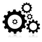 : Vector gears icon