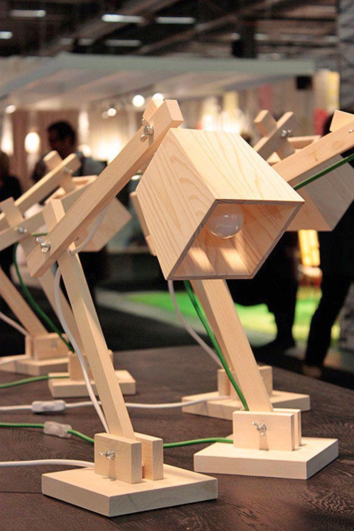 bureaulamp hout