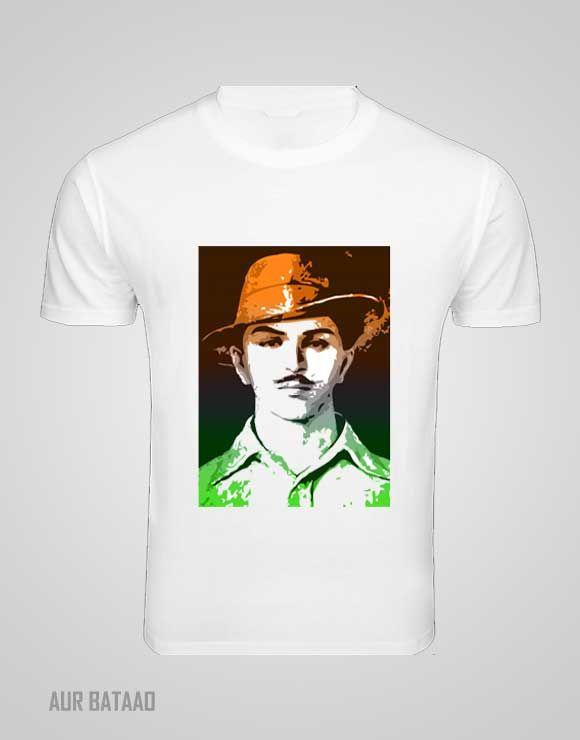 Bhagat Singh Printed Mens T-shirts