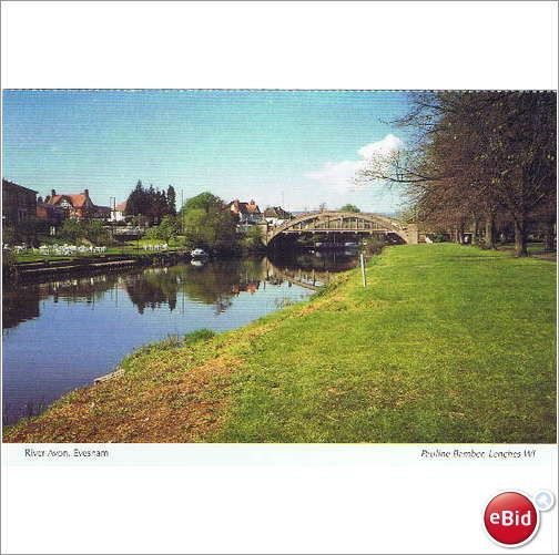 Worcestershire ~ River Avon at Evesham - a W.I. calendar/postcard on #eBid United Kingdom