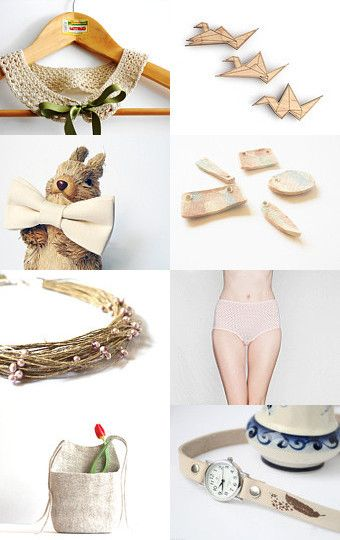 Lovely neutrals by Rachael Howard on Etsy--Pinned with TreasuryPin.com
