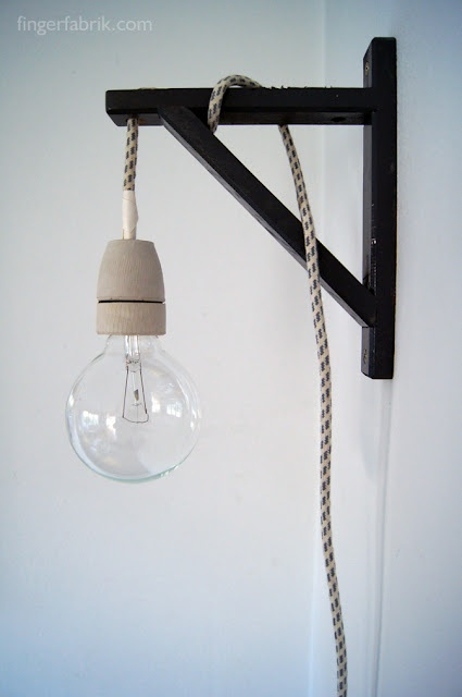 FINGERFABRIK: DIY: Cable lamp tutorial  lampada fai da te con reggimensola ikea