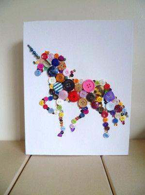 Handmade Mystical Magic - rainbow wall art of a unicorn