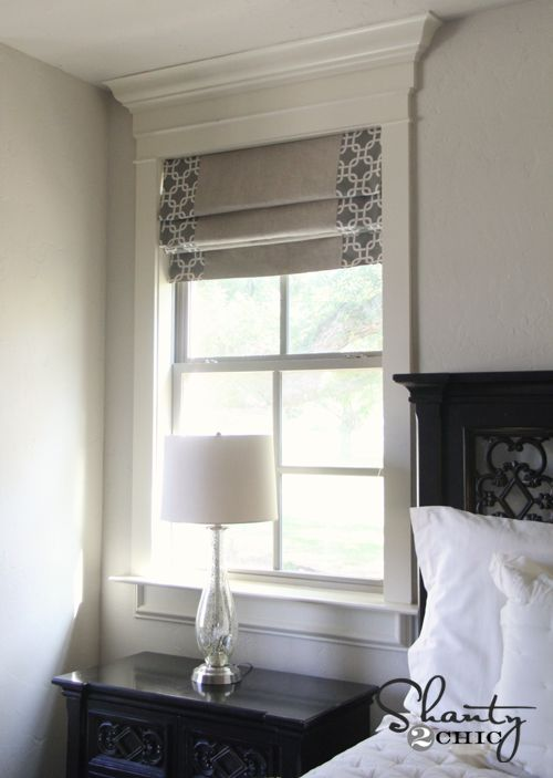 DIY Roman Shades - Link from this post to a Tutorial on her blog! These are my favorite DIY look so far.