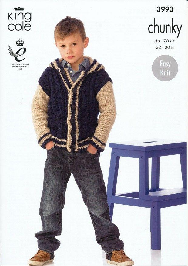 Boy's Jacket in King Cole Comfort Chunky (3993) | Jacket Knitting Patterns | Knitting Patterns | Deramores