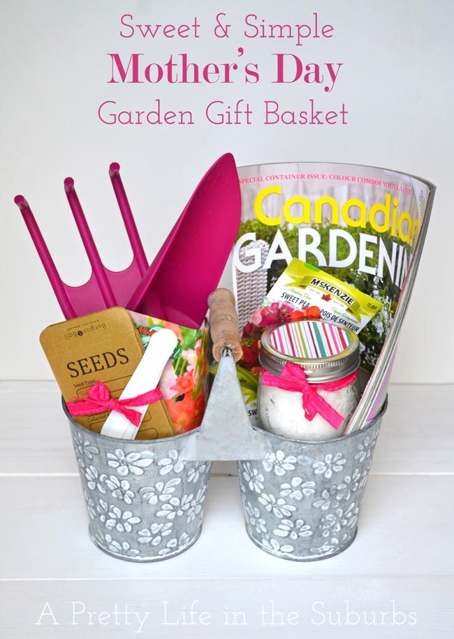 Gardening Gift Basket Ideas the garden master fathers day gardening gift basket oooh hed like this Sweet Simple Mothers Day Garden Gift Basket