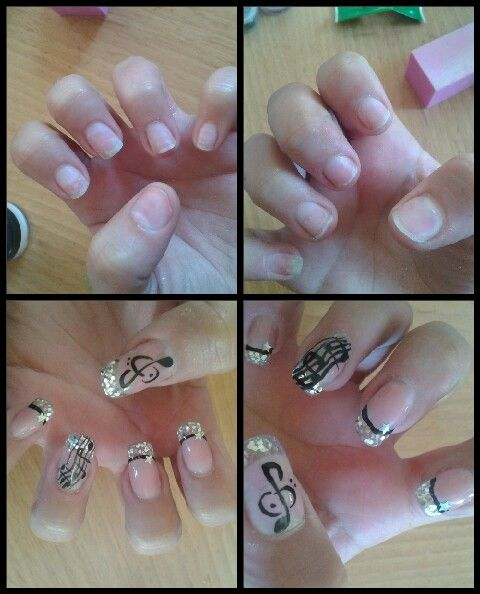 251 best nail art images on pinterest nail art french and roses avantaprs nail art musique disco en gel uv prinsesfo Images