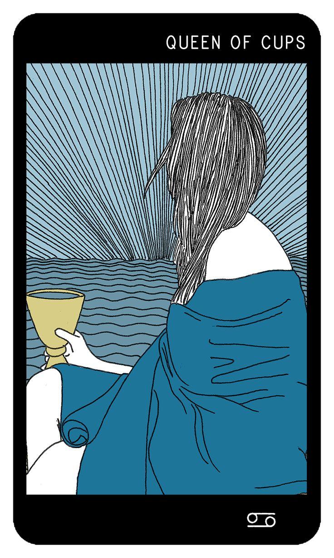 Rainha de Copas | Adana Arcanum Tarot http://adanawtn.com/adana-arcanum-tarot-deck/