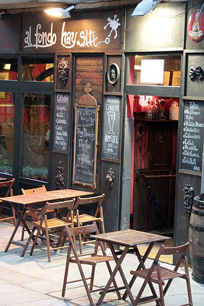 """""""Al Fondo Hay Sitio"""" (Oviedo, Spain). Nice bar to go out """"de tapas"""" (snacks and small tastes dishes) and drink beer and another beverages."""