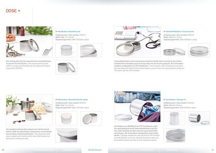 Dosen, Weißblechdosen als Werbemittel, für Ihr Produkt die wertige Verpackung