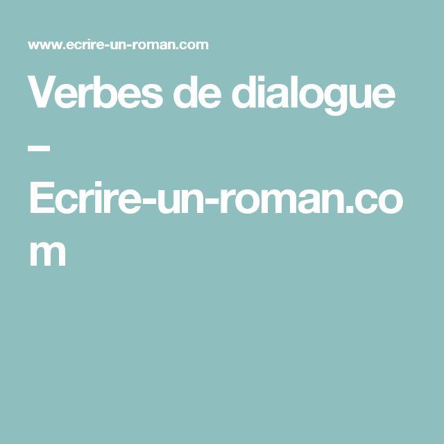 Verbes de dialogue – Ecrire-un-roman.com