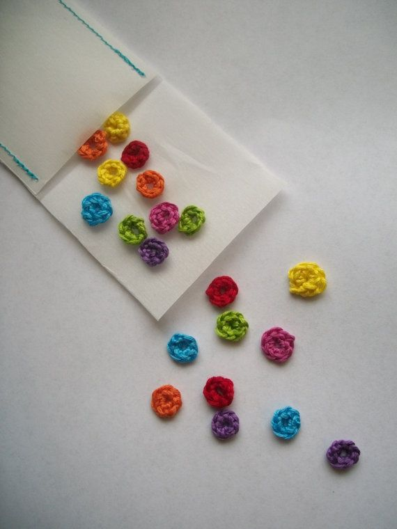 Crochet Party Confetti!  Custom Color Reusable by DownyandFloral
