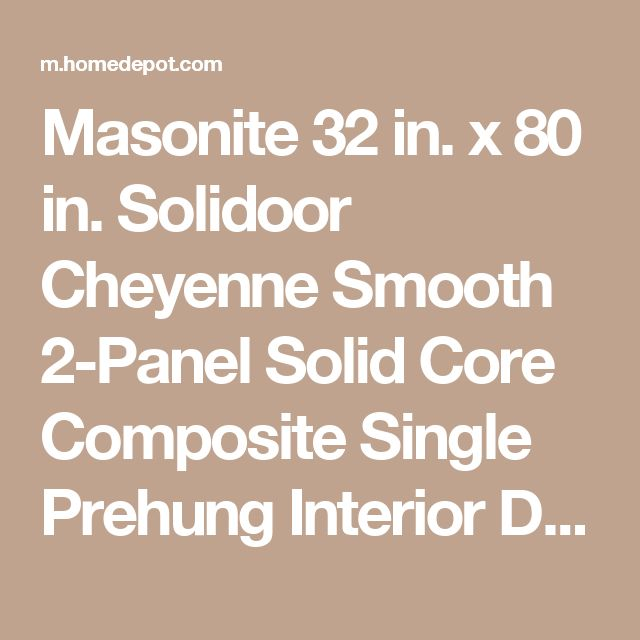 Masonite 60 In X 80 In 6 Panel Primed White Hollow Core: 25+ Best Ideas About Solid Core Interior Doors On