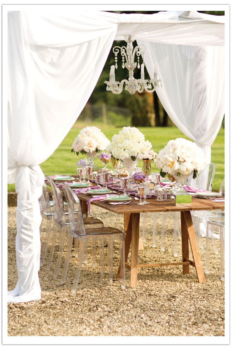 glamorous tablescape vintage chic
