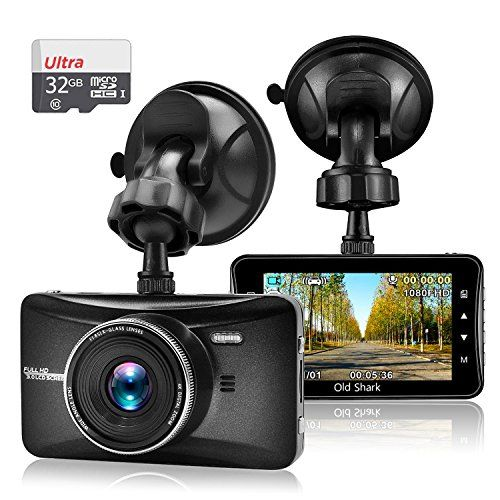 "OldShark 3"" 1080P Dash Cam with 32GB Card 170 Wide Angle Car On Dash Video G-Sensor Night Vision WDR Parking Guard Loop Recording Dashboard Camera Recorder"