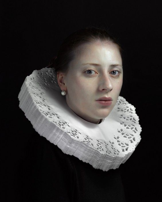 (Glorious use of doilies): With His Daughter As Muse, Photographer Hendrik Kerstens Emulates Flemish Paintings.