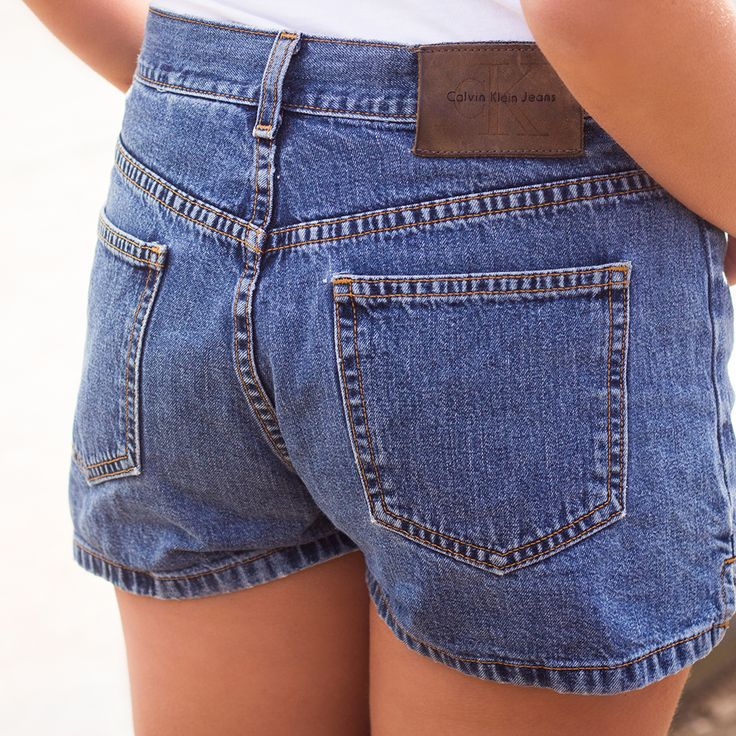 Vintage Calvin Klein denim shorts - Now available@ www.myfavouritemusthaves.com