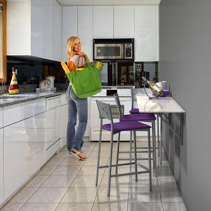 25 melhores imagens de desayunadores para espacios for Mesas para espacios pequenos