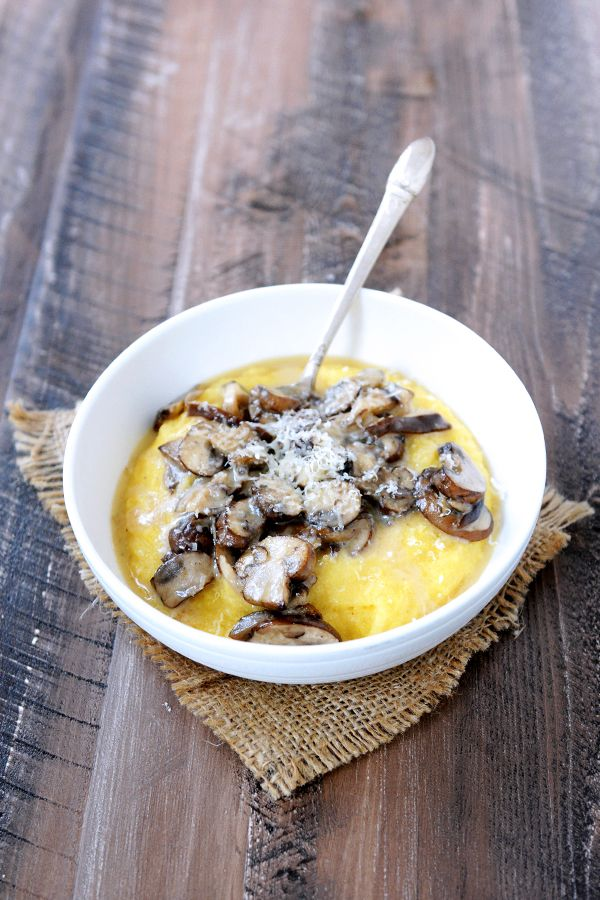 Polenta with Taleggio and Mushrooms image