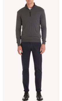 sandro-b.com SVEVO PARMA Sandro.B sweaters Svevo Zip Mock Neck Long Sleeve Sweater