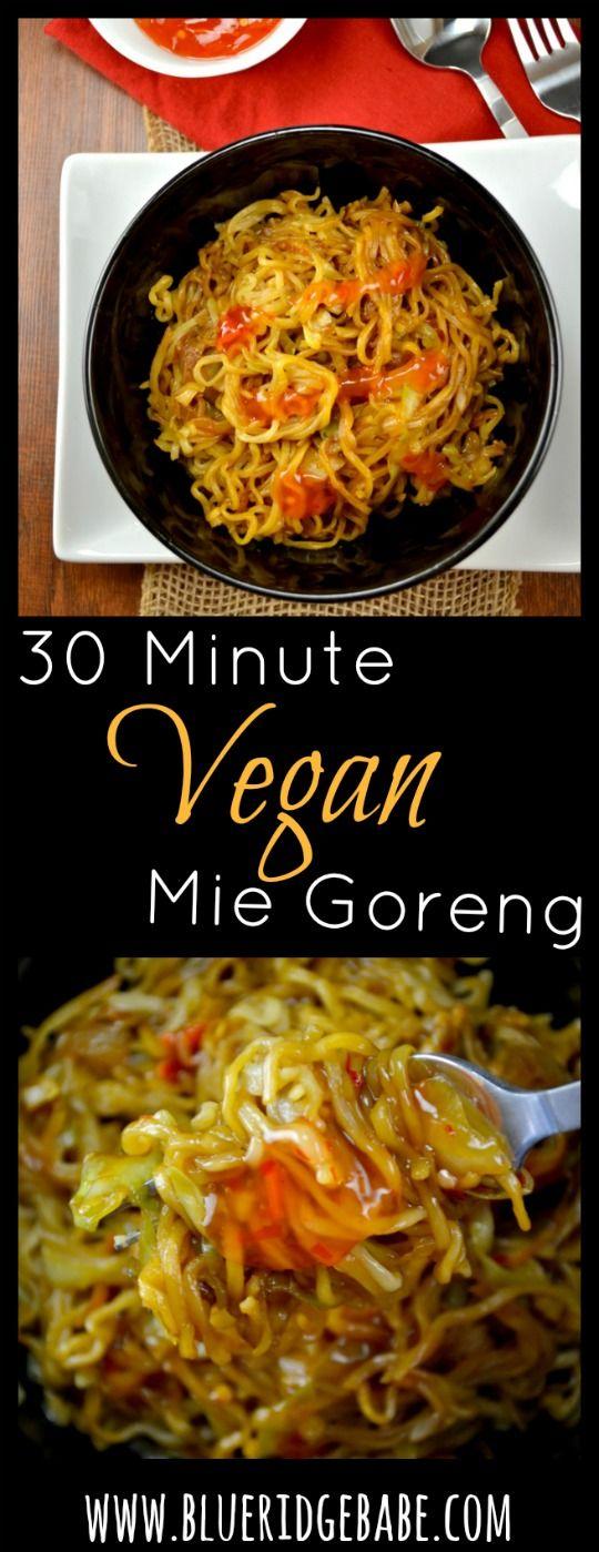 30 minute vegan mie goreng