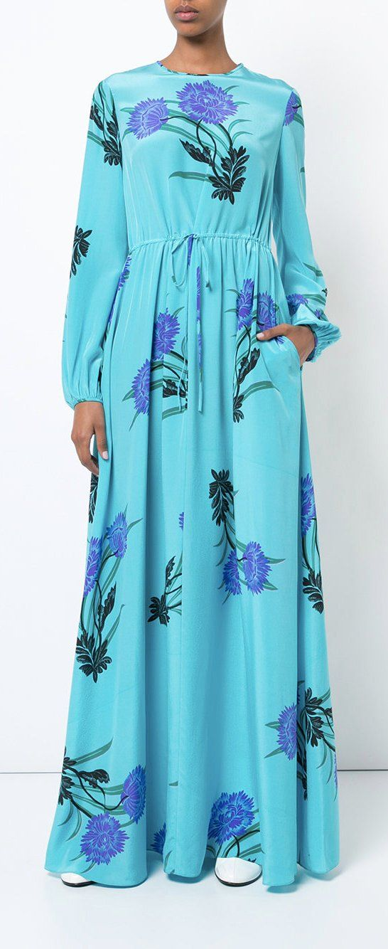 DVF DIANE VON FURSTENBERG floral maxi dress, explore new season dresses on Farfetch now.