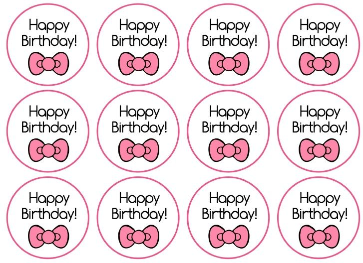 Toppers hello kitty birthday printables pinterest for Hello kitty cupcake topper template