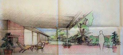 """A 1953 House & Garden article entreated young brides-to-be to begin planning an important aspect of their new future home: a garden. The magazine enlisted landscape architect Perry Wheeler to design a garden for newlyweds that could be developed over a five-year period; or, in Wheeler's words, """"on the installment plan."""" #ArchivesMonth Design for """"Bride's First Garden,"""" c.1953. Office of Perry Wheeler, landscape architect. Archives of American Gardens, Smithsonian Institution."""