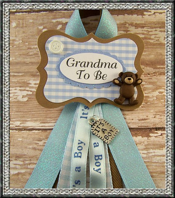 Teddy Bear GrandmaTo Be Corsage Or Any Name or by BloomingParty