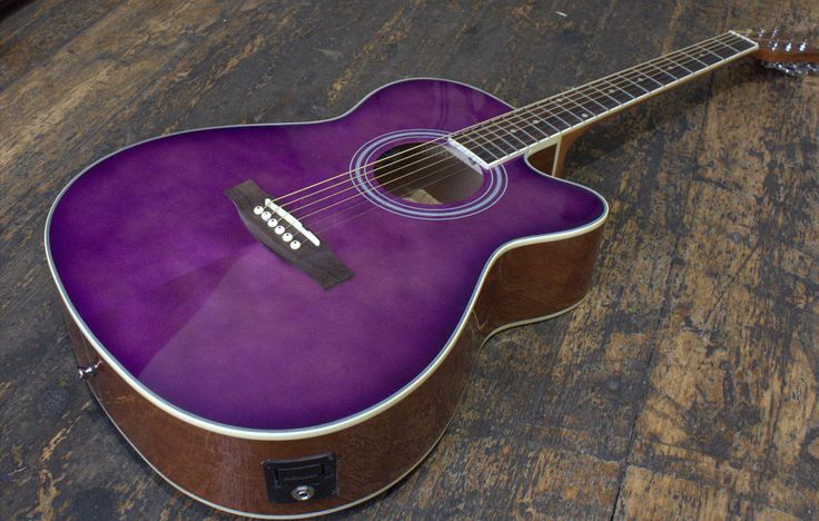 Countryman Purple Burst OM-CE Electro Acoustic Guitar With Fishman Pickup £199.0