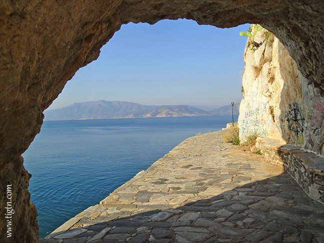 The trail of #Arvanitia crosses trough the rock bed for a short length offering an excellent setting for sensational photos. #Nafplio - #Greece